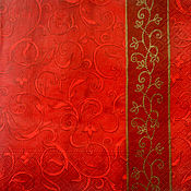"""Материалы для творчества ручной работы. Ярмарка Мастеров - ручная работа Салфетка для декупажа """"Красное с золотом"""". Handmade."""