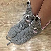 Носки ручной работы. Ярмарка Мастеров - ручная работа Носки-мышки. Handmade.