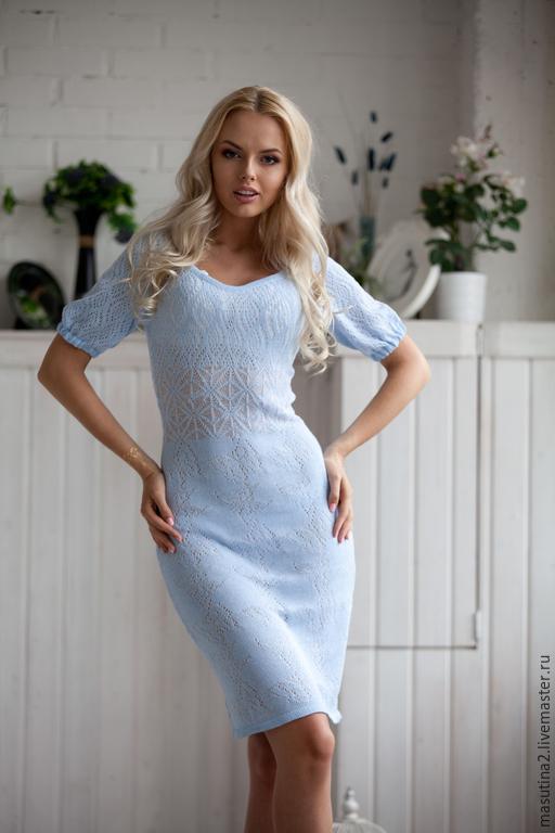 Платье голубого цвета купить