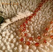 "Украшения handmade. Livemaster - original item Carnelian necklace in Wire Wrap technique ""Moscow"". Handmade."