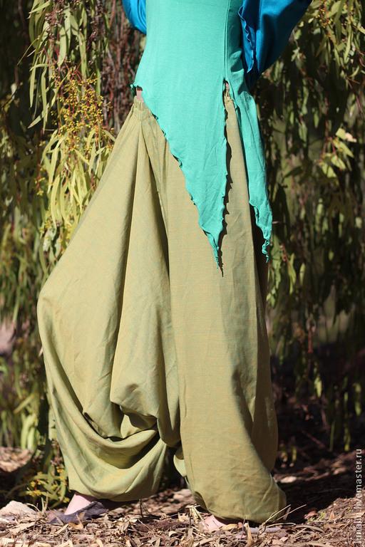 Брюки, шорты ручной работы. Ярмарка Мастеров - ручная работа. Купить Штаны афгани, шаровары для женщин. Handmade. Брюки, алладины