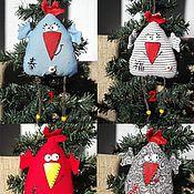 Куклы и игрушки ручной работы. Ярмарка Мастеров - ручная работа Петушки-курочки с иероглифами-пожеланиями. Handmade.