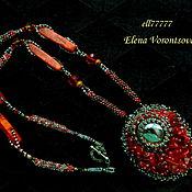 Украшения handmade. Livemaster - original item Pendant of stones and beads