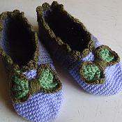 Обувь ручной работы. Ярмарка Мастеров - ручная работа Вязаные следки с вязаными украшениями. Handmade.