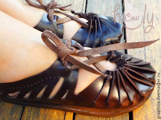 """Обувь ручной работы. Ярмарка Мастеров - ручная работа. Купить Кожаные сандалии ручной работы """"Brownie"""". Handmade. Обувь из кожи"""