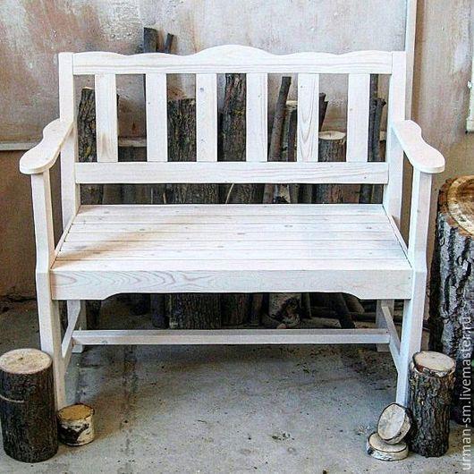 Экстерьер и дача ручной работы. Ярмарка Мастеров - ручная работа. Купить Скамейка из массива сосны. Handmade. Скамейка, лавочка из дерева