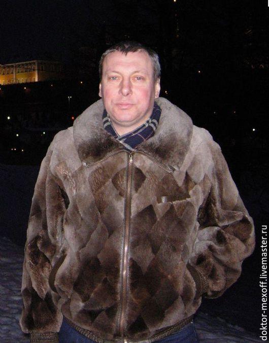 Верхняя одежда ручной работы. Ярмарка Мастеров - ручная работа. Купить Мужская теплая куртка из бобра. Handmade. Однотонный