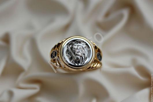 Подарки для мужчин, ручной работы. Ярмарка Мастеров - ручная работа. Купить Печатка из золота с изображением Льва. Handmade. Золотой, печатка