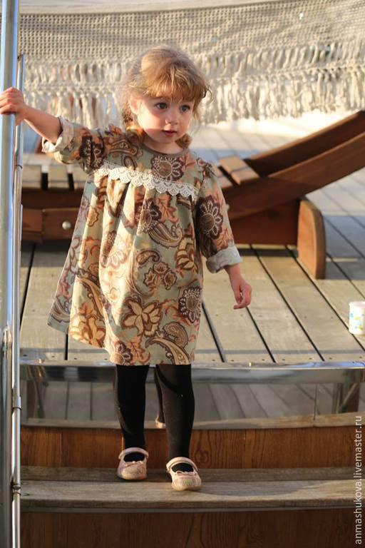 Платья из фланели для девочек