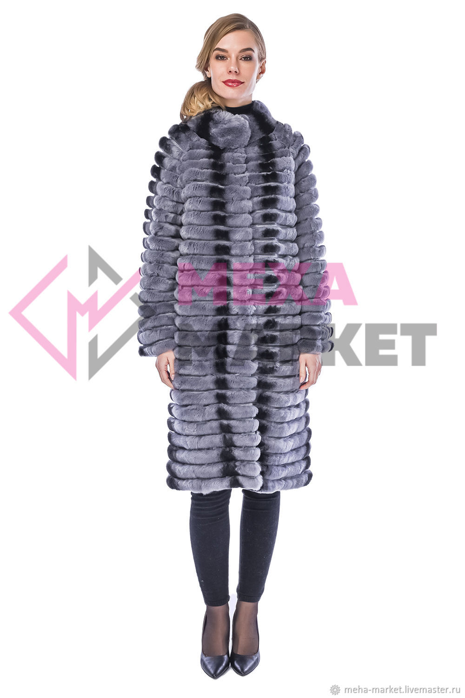Chinchilla rabbit coat 'Florence' GR, Coats, Moscow,  Фото №1