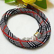 Necklace handmade. Livemaster - original item Harness-beaded necklace
