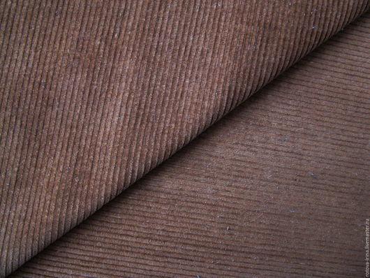 Винтажный вельвет  коричневого  цвета,  хлопок 100% из 80х годов прошлого столетия - из СССР, в отличном состоянии 1 отрез -   - коричневый  100см Х 90см.Х257,00руб.