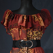 Одежда ручной работы. Ярмарка Мастеров - ручная работа Сарафан красный леопард. Handmade.