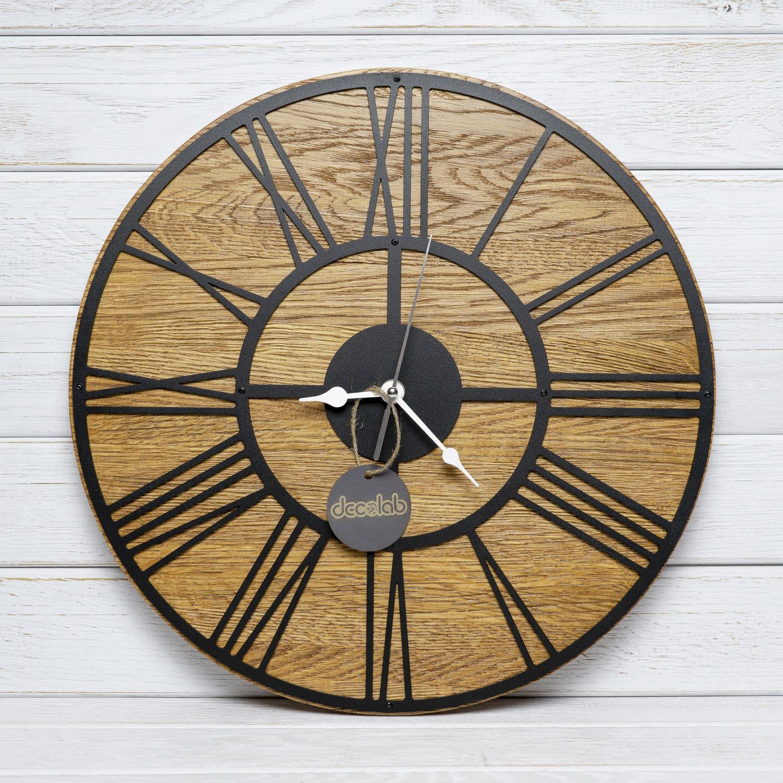 Часы настенные с деревянной подложкой, Часы классические, Иваново,  Фото №1