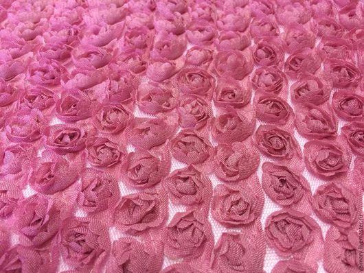 Аппликации, вставки, отделка ручной работы. Ярмарка Мастеров - ручная работа. Купить Розочки на сетке цвет пыльная роза. Handmade.