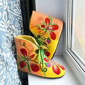 """Обувь ручной работы. Ярмарка Мастеров - ручная работа Чуни валяные """"Медовый спас"""". Handmade."""