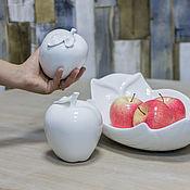 Материалы для творчества ручной работы. Ярмарка Мастеров - ручная работа Декоративное яблоко - белый фарфор. Handmade.