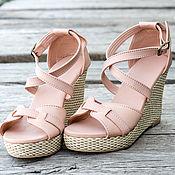Обувь ручной работы handmade. Livemaster - original item Womens Vicky leather sandals . Shoes made of genuine leather. Handmade.