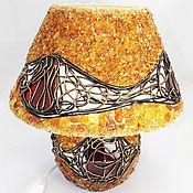 Для дома и интерьера ручной работы. Ярмарка Мастеров - ручная работа Потрясающая настольная лампа из натурального балтийского янтаря. Handmade.