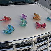 Свадебный салон ручной работы. Ярмарка Мастеров - ручная работа Бабочки перо большие 13-18 см на свадебное авто. Handmade.