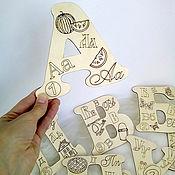 Куклы и игрушки ручной работы. Ярмарка Мастеров - ручная работа Алфавит и цифры большие. Handmade.