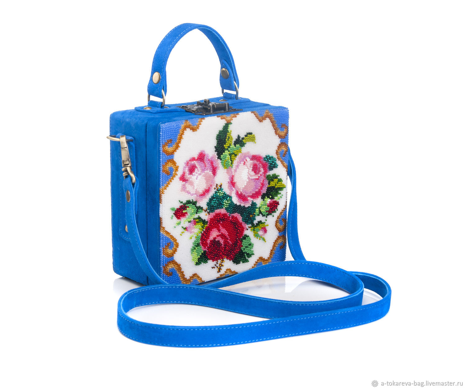 Exclusive briefcase beaded Elegant flowers, Suitcase, Moscow,  Фото №1