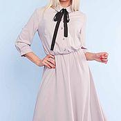 Одежда ручной работы. Ярмарка Мастеров - ручная работа Платье цвета пудра 096. Handmade.