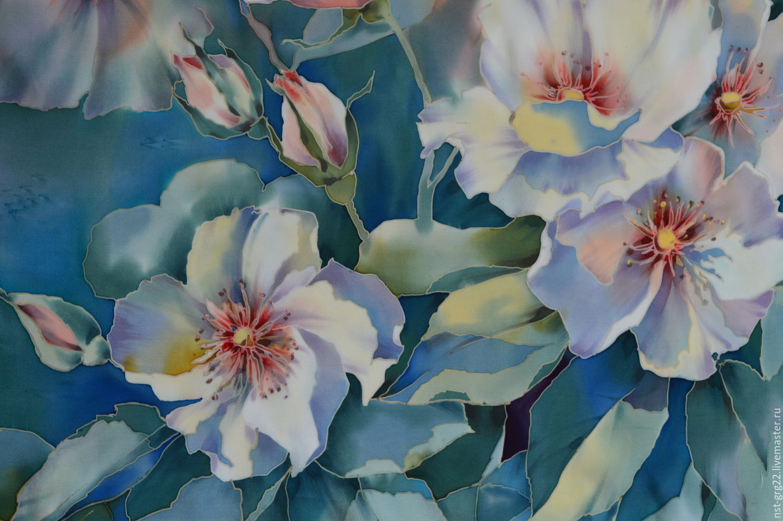 Холодный батик цветы картинки