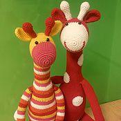 Куклы и игрушки ручной работы. Ярмарка Мастеров - ручная работа Яркие жирафики. Handmade.