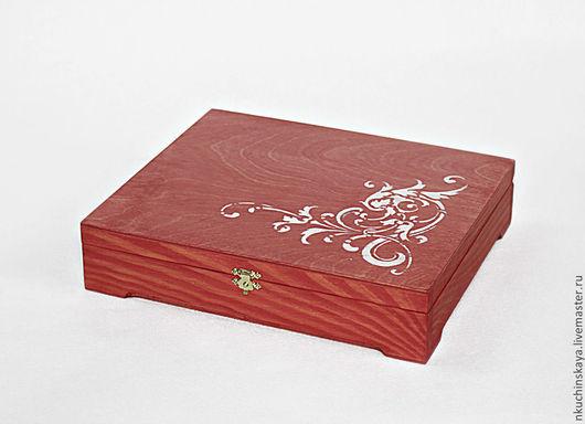 """Шкатулки ручной работы. Ярмарка Мастеров - ручная работа. Купить Шкатулка """"Морозный узор"""". Handmade. Коралловый, для упаковки подарка"""