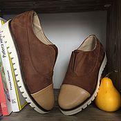Обувь ручной работы. Ярмарка Мастеров - ручная работа Оксфорды на резинке Faktura. Handmade.