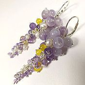 Украшения handmade. Livemaster - original item Whisper Of Morning Lilac. earrings. Handmade.