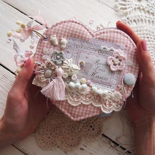 Персональные подарки ручной работы. Ярмарка Мастеров - ручная работа. Купить Миниальбом для девочки. Handmade. Розовый, картон дизайнерский