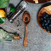 Посуда handmade. Livemaster - original item Wooden spoon large Siberian Cedar tableware made of wood #L24. Handmade.