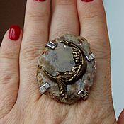 Украшения handmade. Livemaster - original item Ring Crescent. agate cut. Handmade.