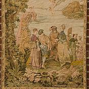 Винтаж ручной работы. Ярмарка Мастеров - ручная работа Старинный гобелен «Паломничество на остров Киферу» по мотивам картины. Handmade.