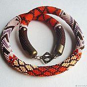 Necklace handmade. Livemaster - original item Harness beaded Autumn sweater. Handmade.