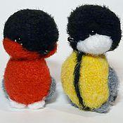 Куклы и игрушки ручной работы. Ярмарка Мастеров - ручная работа Зимние птички,снегири-синички.. Handmade.