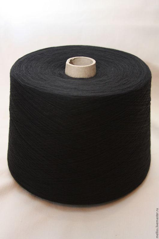 Вязание ручной работы. Ярмарка Мастеров - ручная работа. Купить Пряжа хлопок (Белоруссия). Handmade. Черный, белоруссия, пряжа на бобинах