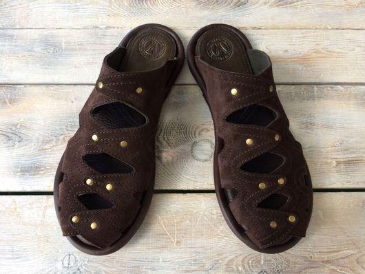 """Обувь ручной работы. Ярмарка Мастеров - ручная работа. Купить Кожаные тапочки """" Zig-Zag- замша"""". Handmade. Тапочки"""