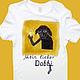 футболка, футболка  с рисунком, футболка на заказ, футболка с росписью, футболка с изображением, футболка с надписью, Добби, эльф, фентези, Гарри Поттер, домовик