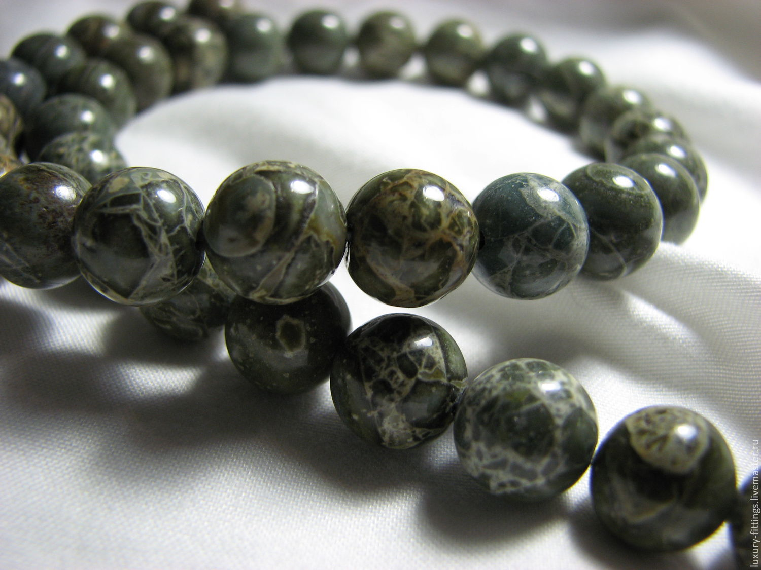 Jasper breccia green 10mm smooth ball, Beads1, Moscow,  Фото №1