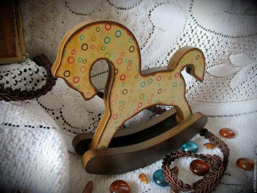 Игрушки животные, ручной работы. Ярмарка Мастеров - ручная работа. Купить Интерьерные лошадки. Handmade. Комбинированный, Декупаж, подарок, трафареты
