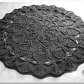 Для дома и интерьера handmade. Livemaster - original item The carpet is round knitted relief from a cord Pineapple. Handmade.