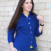 "Одежда handmade. Livemaster - original item Jacket ""Spring in blue"". Handmade."