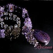 Украшения handmade. Livemaster - original item Isabella - necklace with large pendant lepidolite ametrine. Handmade.