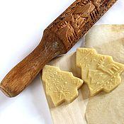 Для дома и интерьера ручной работы. Ярмарка Мастеров - ручная работа Новогодний подарок скалка для печенья и пряников. Handmade.