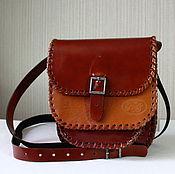 Винтаж ручной работы. Ярмарка Мастеров - ручная работа Кожаная женская сумочка винтаж Италия. Handmade.