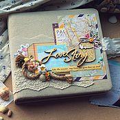 Свадебный салон handmade. Livemaster - original item Wedding album in a marine style. Handmade.