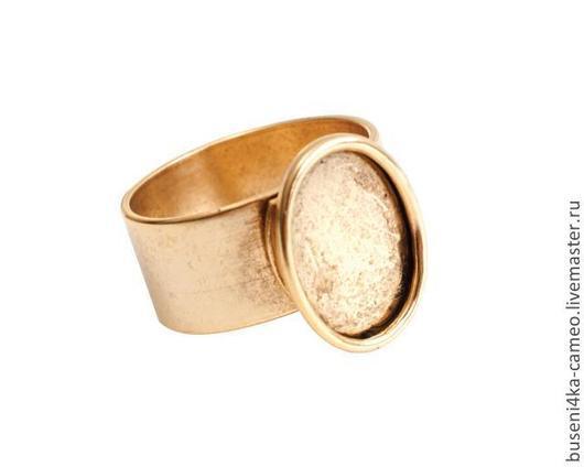 Для украшений ручной работы. Ярмарка Мастеров - ручная работа. Купить Основа для кольца Гладкая 13х18мм, ND античное золото. Handmade.